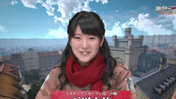 Mikasa Voice Actress Yui Ishikawa Tries Out Attack On Titan Game
