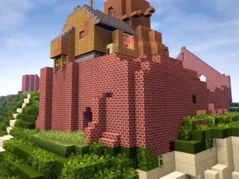 Fan Spends 4 Years Recreating Ghibli's Castle in the Sky in Minecraft