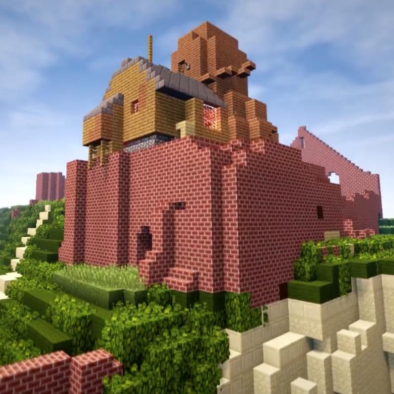 Fan Spends 4 Years Recreating Ghibli's Castle in the Sky in Minecraft