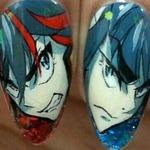 Otaku Salon Paints Kill la Kill Anime Nails