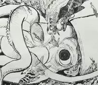 Katsuya Terada Uses Squid Ink to Paint Huge Squid