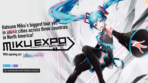 Hatsune Miku Expo Tour Adds More U.S. Dates, Mexico