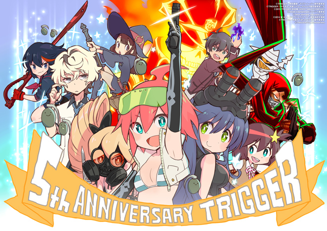 Studio Trigger's 5th Anniversary Celebrated With Trigger Girls Art