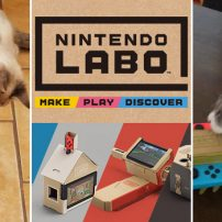 Cats Go to War with Nintendo Labo Cardboard Creations
