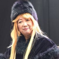 Tokyo Governor Yuriko Koike Cosplays as Maetel from Galaxy Express 999