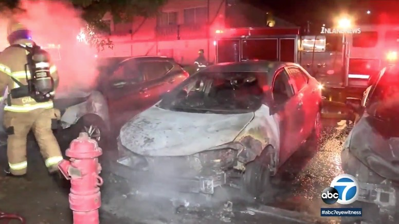 Suspect Arrested After Anime LA Arson Leaves Seven Vehicles Scorched