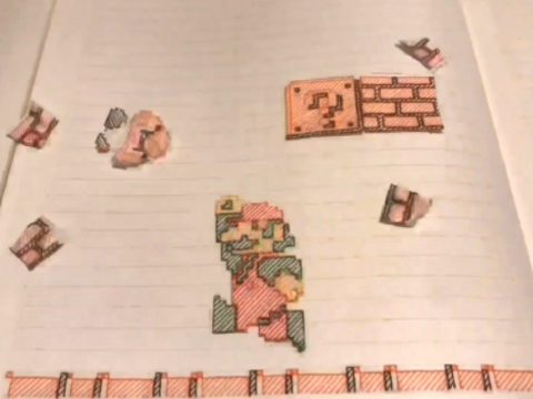 Japanese Fan Recreates Super Mario Bros. World 1-1 in Notebook