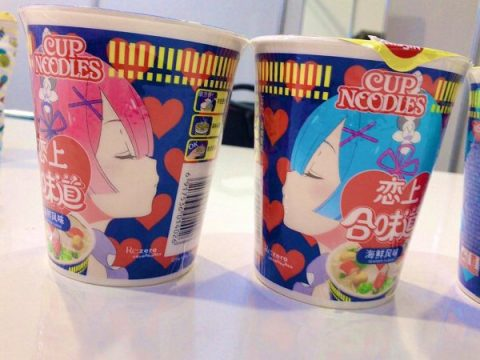 Re:Zero Characters Adorn Chinese Cup Noodle Packaging