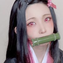 Japan's Top Cosplayer Pulls Off Perfect Nezuko with Items from Home