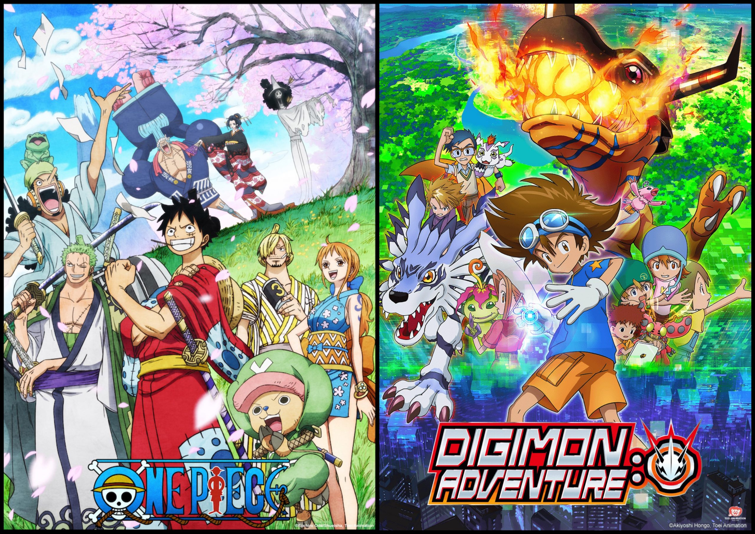 one piece and digimon