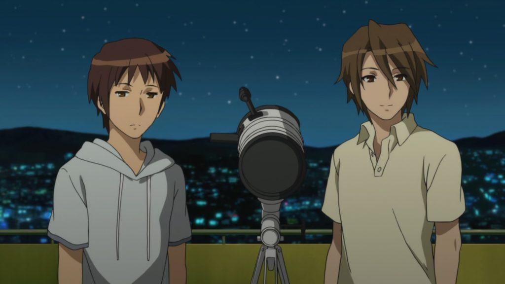 Stargazing with Kyon and Koizumi