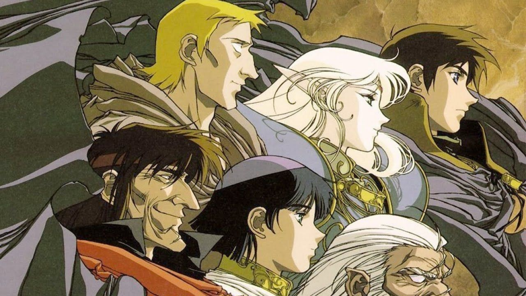 The cast of The Record of Lodoss War