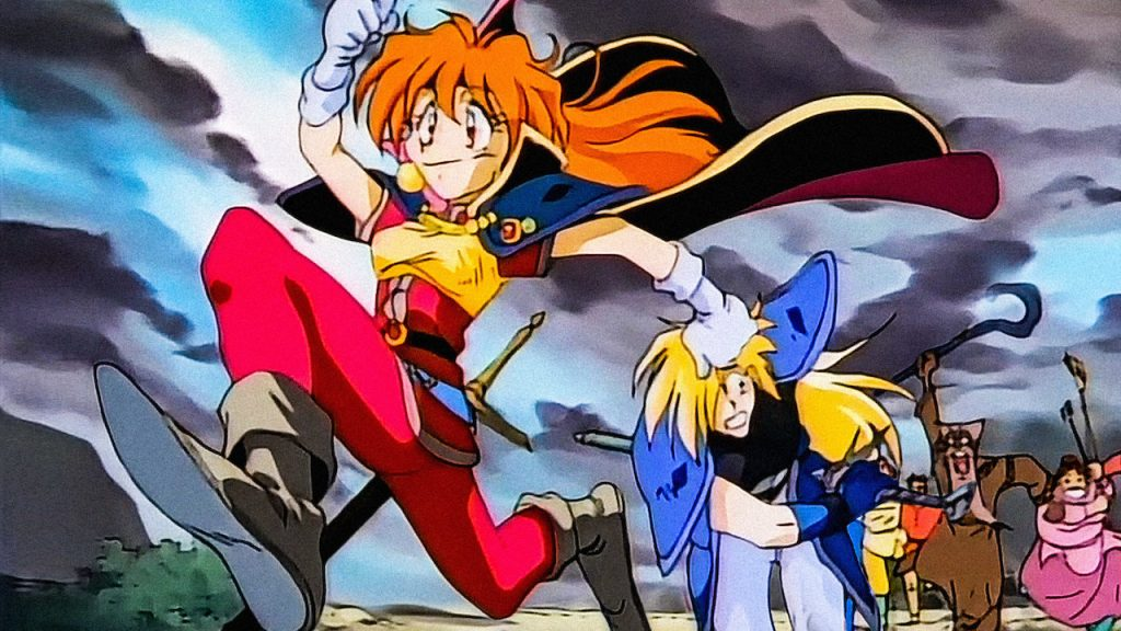 The cast of Slayers
