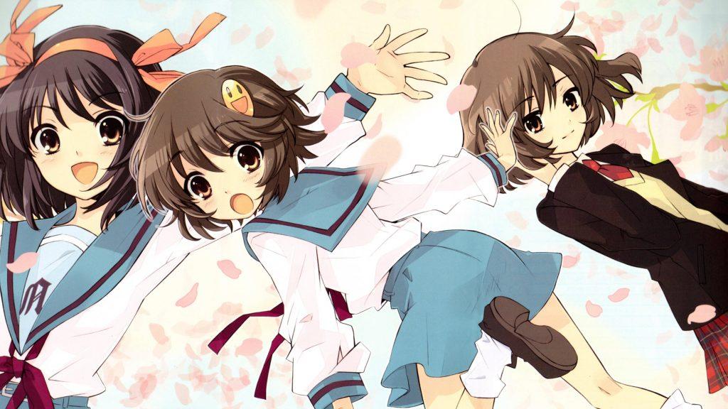 Haruhi, Yasumi, and... hey, who's that?