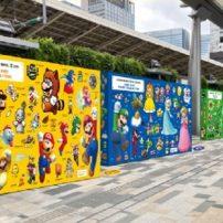 Celebrate Super Mario Bros. with Japanese Train Station Art Exhibits