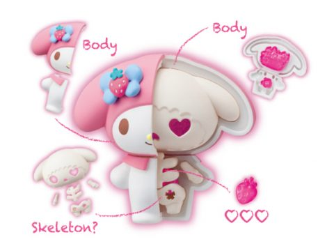 Disembowel Sanrio Characters with New Set of Gross/Cute Toys