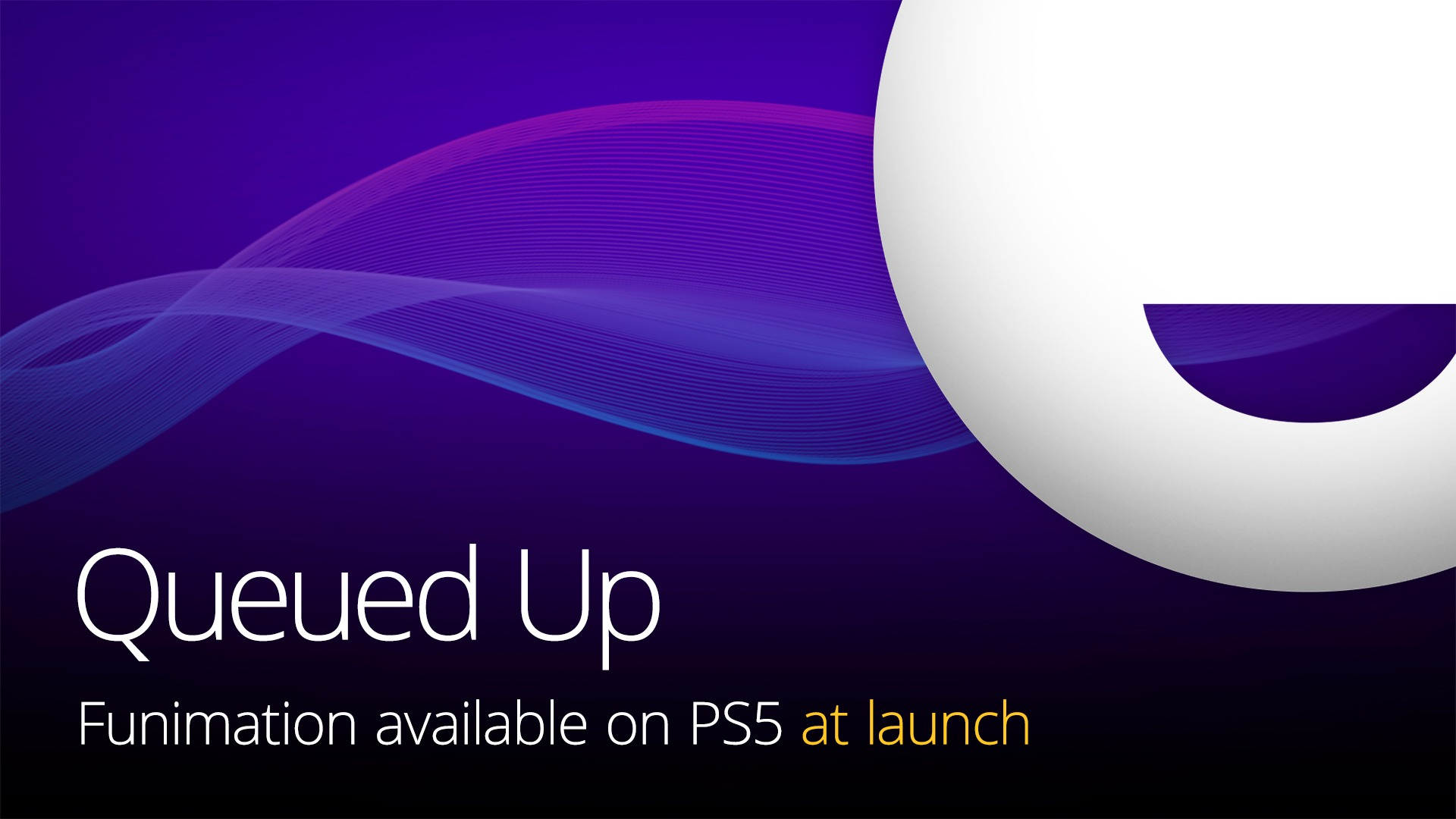 Funimation app on PS5