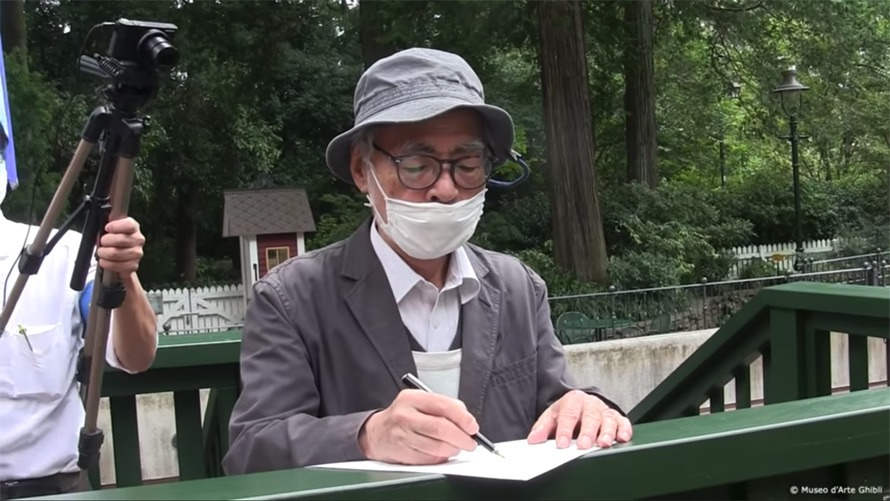 Miyazaki Shares New Video of Him Making Sketches for His Café