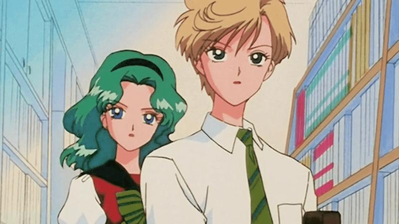 Michiru Kaioh and Haruka Tenoh's Gakuen Academy uniforms