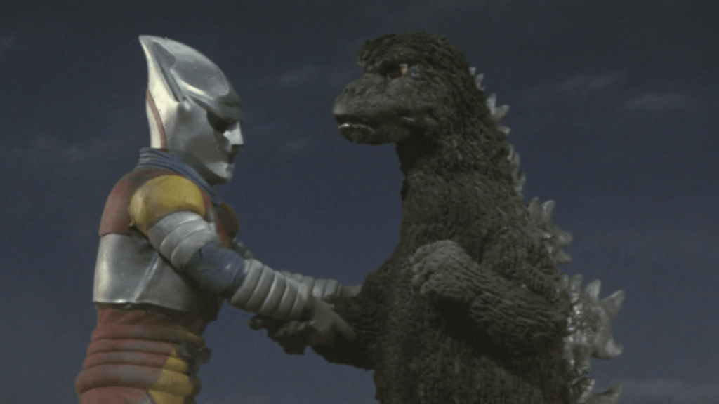 Godzilla vs. Jet Jaguar on film