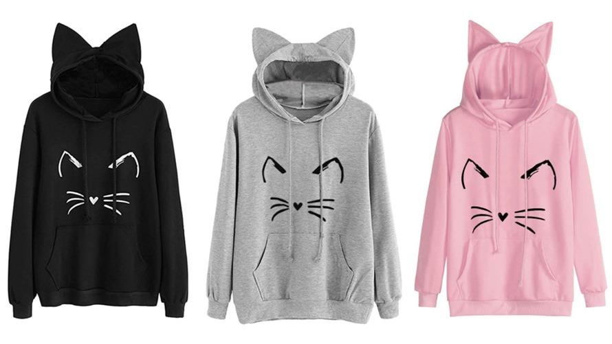 Cute Kitty Cat Hoodie