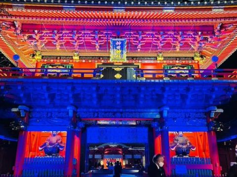 Playstation 5 Release Celebrated with Light Show at Otaku Shinto Shrine