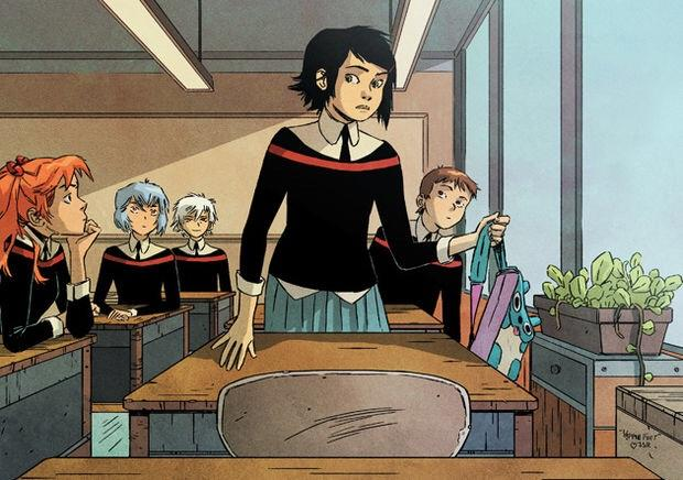 Peni Parker and classmates in Edge of the Spider-Verse