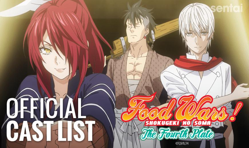 Sentai Reveals Dubbed Sneak Peek of Food Wars! The Fourth Plate