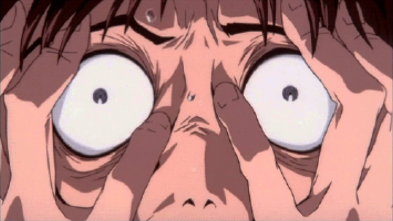 Shinji's freaking out and so are we