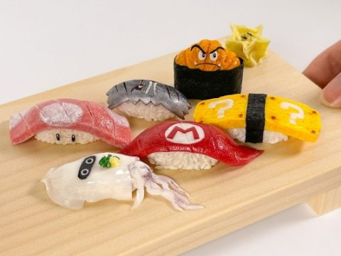 Japanese Artisan Makes Clay Sushi Out of Mario Symbolism