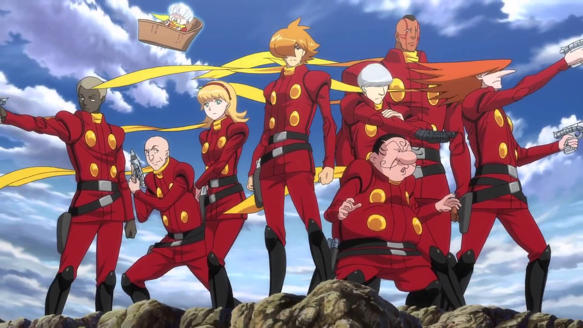 The cast of Cyborg 009