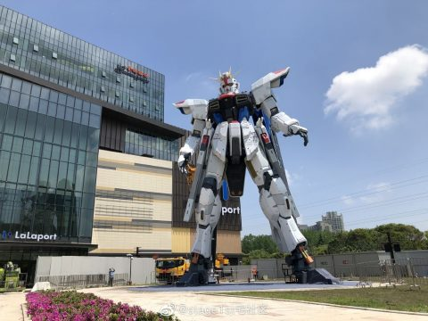 Shanghai Gets a Life-Sized Freedom Gundam