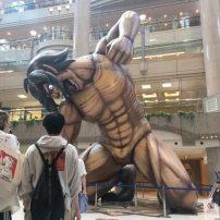 Yokohama Mall Gets Full Sized Titans in Attack on Titan Display