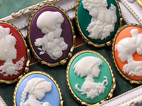Studio Ghibli Heroines Celebrated in Cameo Brooch Set