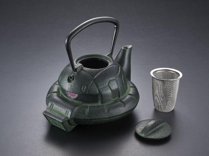 Gundam Café Releases Zaku Cast Iron Tea Kettle