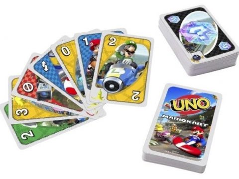 Mario Kart Uno Deck Includes Banana Peels and Lightning Bolts