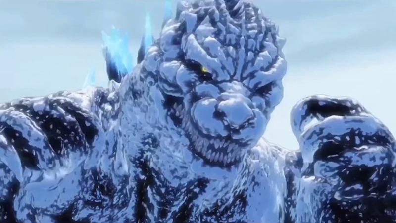 Snow Godzilla in the Shinkalion film