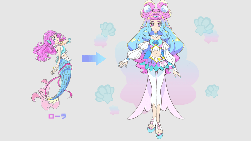Laura / Cure La Mer is the first mermaid Pretty Cure, but not the first to be non-human!