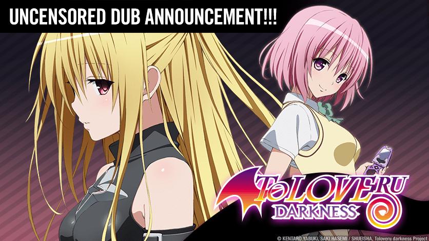 HIDIVE to Stream To Love-Ru: Darkness Anime's Uncensored Dub
