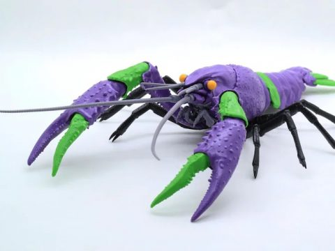 Evangelion Crayfish Models Are a Thing, Because Merchandising Has No Limits
