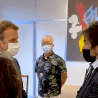 French President Meets with Akira, Fairy Tail, Dark Souls Creators