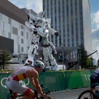 Giant Gundam Statue Becomes Centerpiece of Tokyo Olympics Triathlon