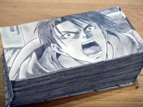 Amazing Attack on Titan Flipbook Took Over 400 Hours to Draw