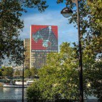 France's National Library Has 147.5 Foot Kaiju No. 8 Mural